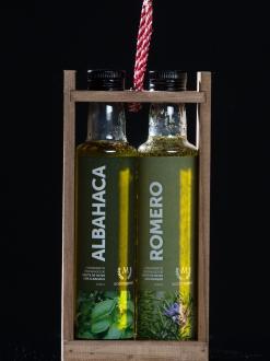 Pack especial 2 aceites con especies Romero y Albahaca.