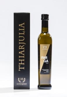 Aceite virgen extra Farga 500 ml, en caja individual.